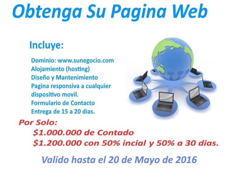 oferta paginas web para app users colombia